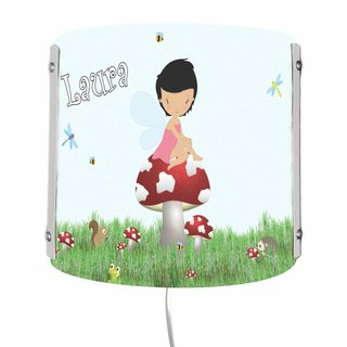 Kinder Wandlampe / SchreibWandlampe Motiv Waldfee